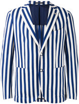 Tagliatore striped blazer - men - Cotton/Cupro - 48