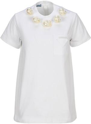 Prada Shell Embellished T-Shirt