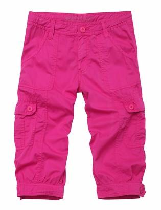 Match Ladies Casual Cargo Cotton Combat Capri Trousers #636(638 Pink Large)