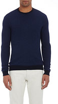 Zanone MEN'S MOCK TURTLENECK SWEATER-BLUE SIZE M