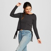 Women's Striped Lace Up Side Sweater - XOXO (Juniors')