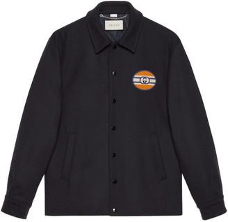 Gucci Felt jacket with Interlocking G patch
