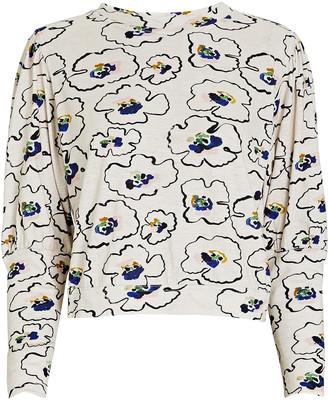 Apiece Apart Olimpio Printed Long Sleeve T-Shirt