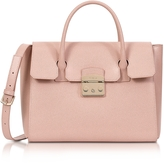 Furla Moonstone Grained Leather Metropolis Medium Satchel