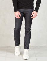 SASQUATCHfabrix. Indigo Knit Like Denim Taperd Slim Pants