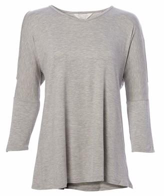 Three Seasons Maternity Women's 3/4 Open Shoulder Sleeve Solid Top