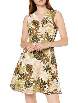 Koton Women's Wrap Dress With Floral Pattern Party Dress,8 (Size: )