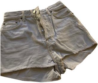 Acne Studios White Denim - Jeans Shorts