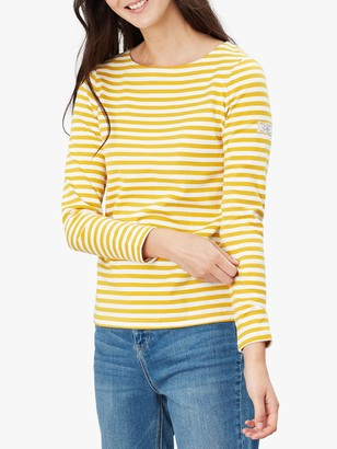 Joules Harbour Long Sleeve Jersey Top, Gold