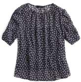 J.Crew J. CREW Ruched Sleeve Sparkle Floral Top