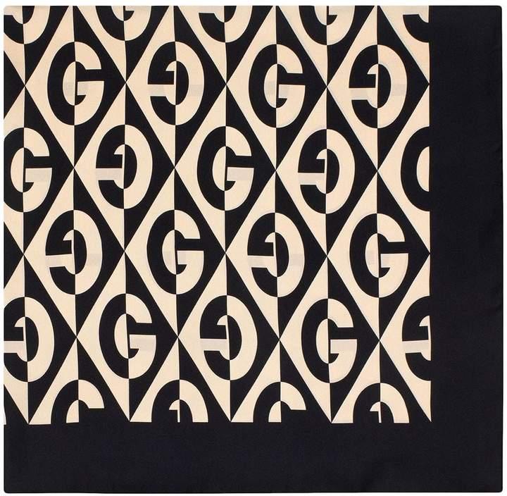 Gucci Silk scarf with G rhombus print
