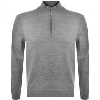 Michael Kors Half Zip Merino Sweatshirt Grey