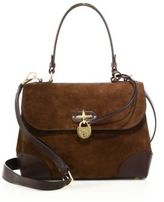 Ralph Lauren Tiffin Small Suede & Leather Top-Handle Satchel