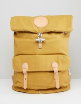 Stighlorgan Reilly Backpack With Roll Top In Lacquered Cotton Canvas