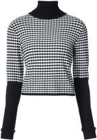 Jonathan Simkhai gingham roll neck jumper