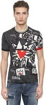 Dolce & Gabbana All Over Printed Cotton Jersey T-Shirt