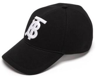 Burberry Monogram Cotton Jersey Baseball Cap - Mens - Black