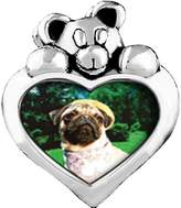 GiftJewelryShop Golfing Pug Peridot Crystal August Birthstone I Love You Heart Care Bear Charm Beads Bracelets