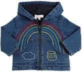 Stella McCartney Embroidered Hooded Stretch Denim Jacket