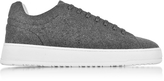 Etq Amsterdam Low 4 Ash Gray Wool Men's Sneaker