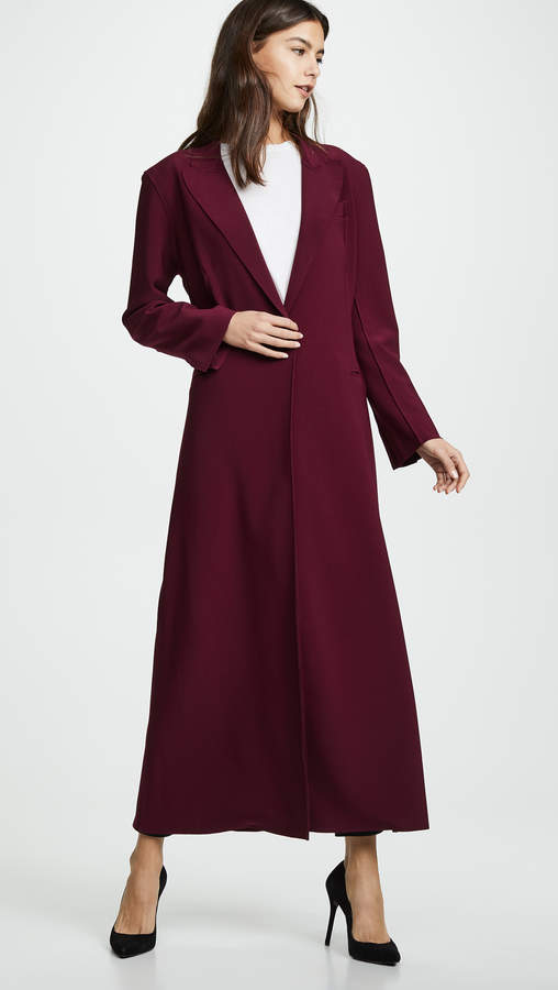 Norma Kamali Single Breasted Coat