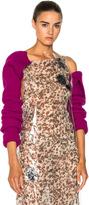 Calvin Klein Wool Rib Knit Sleeves