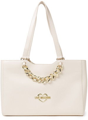Love Moschino Embellished Faux Leather Tote