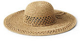 Lands' End Women's Floppy Sun Hat-Natural