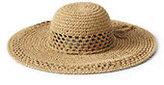 Lands' End Women's Floppy Sun Hat-Natural
