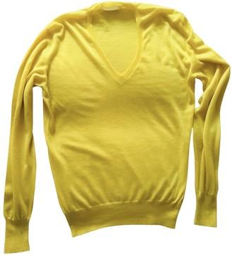 Alexander McQueen Yellow Cashmere Knitwear