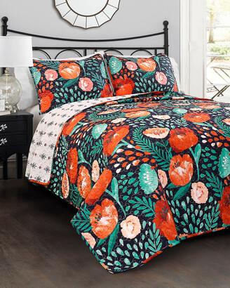 Triangle Home Fashion Poppy Garden Quilt Set