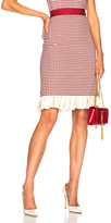 Brock Collection Selin Skirt in Red,Checkered & Plaid.