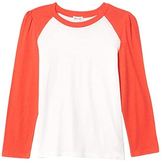 Splendid Littles Raglan Sleeve Top (Big Kids) (Coralicious) Girl's Clothing