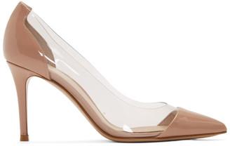 Gianvito Rossi Pink Patent Plexi 85 Heels