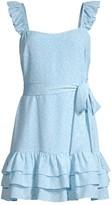 LIKELY Charlotte Ruffle Trim Mini Dress