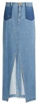 Sea Front-slit denim skirt