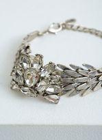 Mint Velvet Silver Tone Cluster Statement Bracelet