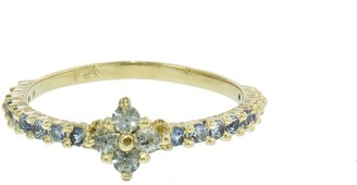 Ruta Reifen Lt. Green Montana Sapphire Clover Yellow Gold Ring