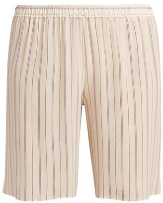 Chloé Striped Silk Shorts