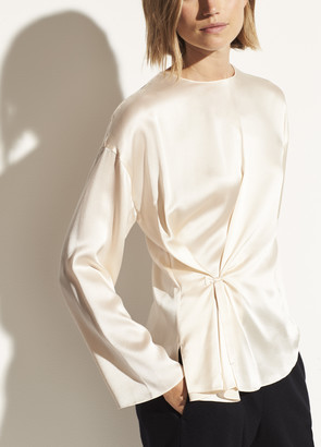 Vince Silk Knot Front Blouse