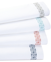 Trina Turk Trellis Block Embroidered Full Sheet Set
