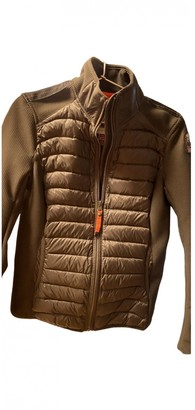 Parajumpers Khaki Leather Jacket for Women