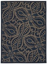 Waverly Color Motion Belle Of The Ball Delft Area Rug by Nourison (5' x 7')