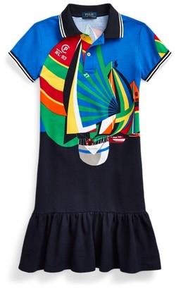 Ralph Lauren Sailboat Mesh Polo Dress