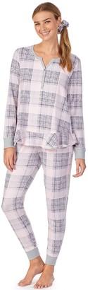 Women's Layla Ruffle-Trim Pajama Top, Pajama Leggings & Scrunchie Set