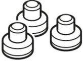 Unknown Silit Lot de 3 capuchons d'étanchéité Sicomatic® en plastique