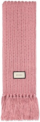 Gucci Knit wool scarf with label