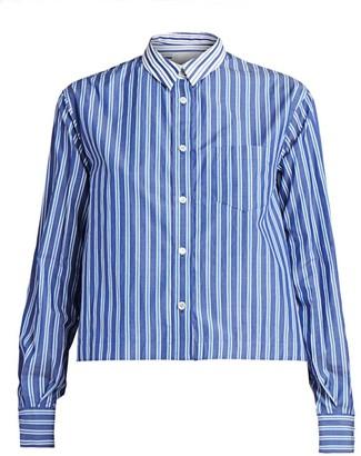 Sacai Pinstripe Button-Down Shirt