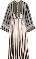 Etro Flocked Embellished Silk-jacquard Midi Dress - Ivory