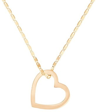 Lana 14K Yellow Gold Small Floating Heart Necklace